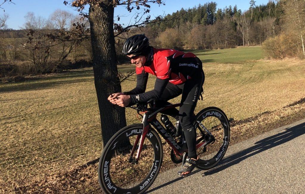 Rennradfahren im Frühling